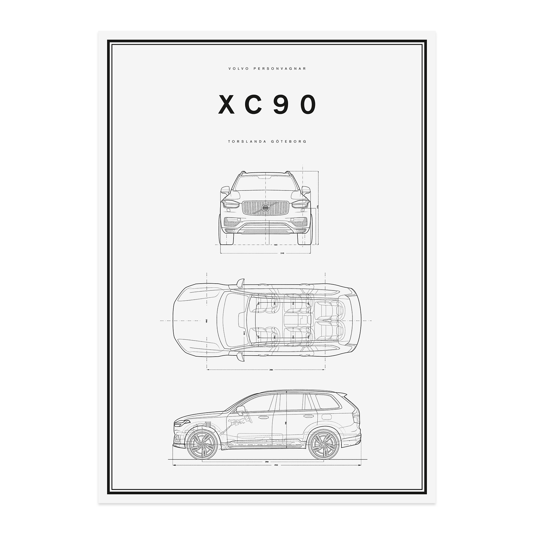 Line Art Poster : Volvo car lifestyle collection shop xc line drawing poster